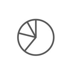Pie chart graphs in segments line icon vector