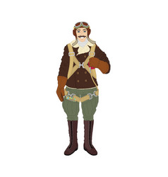 Pilot cartoon character vector
