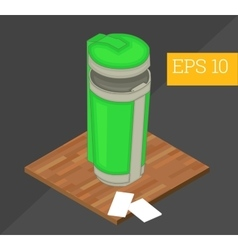 recycle container isometric vector image