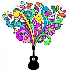 Retro psychedelic vector