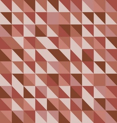 Retro triangle pattern with red background vector image