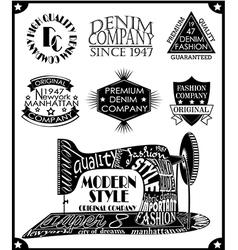 Retro vintage lettering vector