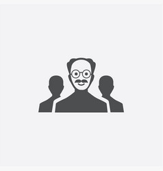 scientist group icon vector image
