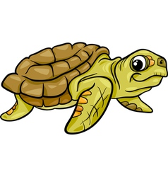 sea turtle animal cartoon vector image