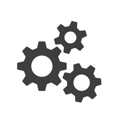 Settings gears orcogs flat icon for apps vector