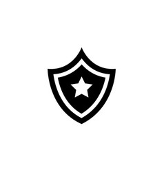 shield star flat icon vector image