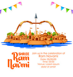 Shree ram navami celebration background for vector