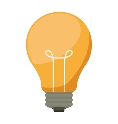 Silhouette light bulb with filaments vector