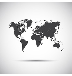 Simple icon map of the world vector