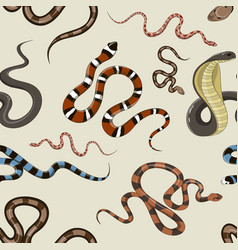 snake set pattern vector image