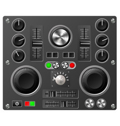 Sound board or studio controls vector