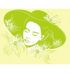 spring girl vector image vector image