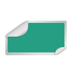Square sticker icon vector