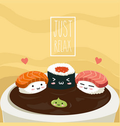 sushi relax vector image