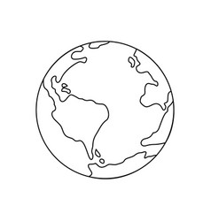 symbol of earth thin line icon vector image