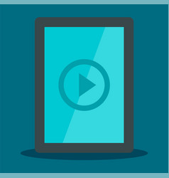 tablet video player icon flat style vector image