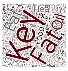 The Keys To Healthy Weight Loss And Wellness text vector