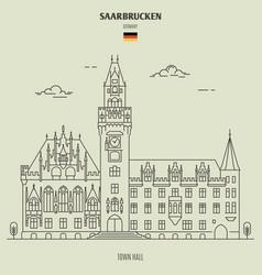 town hall in saarbrucken vector image