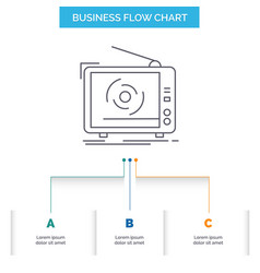 tv ad advertising television set business flow vector image