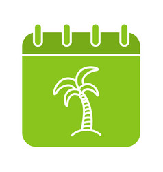 vacations days glyph color icon vector image