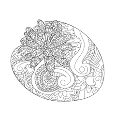 Water lily flower coloring raster for adults vector image