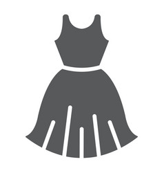 Woman dress glyph icon female and clothes gown vector