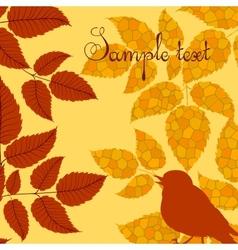 Autumn card in retro style vector image vector image