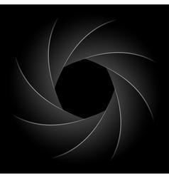 camera shutter vector image