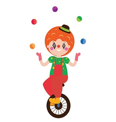Clown character vector image vector image