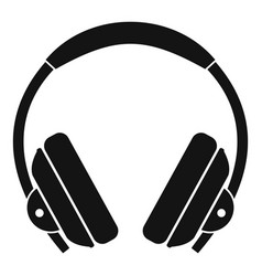 headphone icon simple style vector image vector image