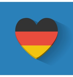 Heart-shaped icon with flag of Germany vector image vector image