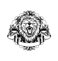 lion with patterns vector image vector image