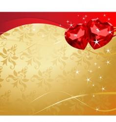valentine ruby hearts vector image vector image