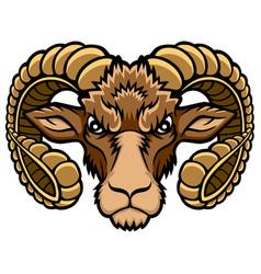 Aries head logo vector