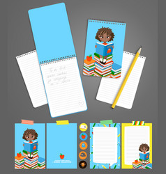 back to school printable set with pupils vector image vector image
