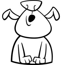 dog howls cartoon coloring page vector image vector image
