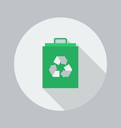 Eco Flat Icon Eco Bag vector image vector image