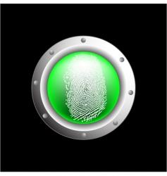 fingerprint button vector image