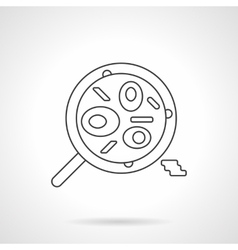 Mexican food dish flat thin line icon vector image vector image
