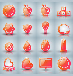 set icon on the grey background vector image
