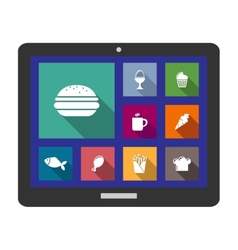 Set of flat cooking and food icons vector image vector image