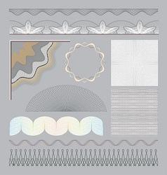 Set of guilloche elements vector image vector image