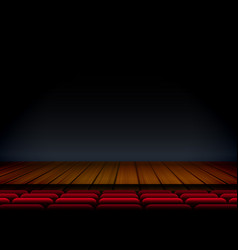 theater or stage template for show premier with vector image vector image