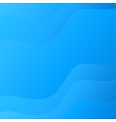 Blue smooth wave lines background vector image