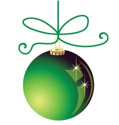 Green Christmas ball decoration vector image vector image