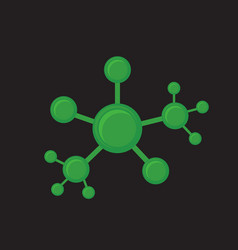 green network abstract vector image vector image
