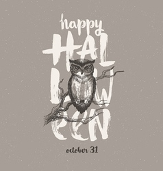 Halloween with owl vector image vector image