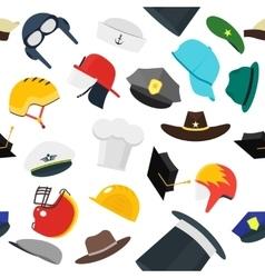 Hats Set Fashion Background Pattern vector image