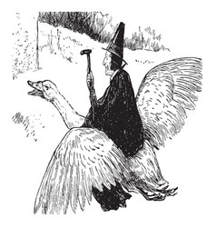 mother goose vintage vector image