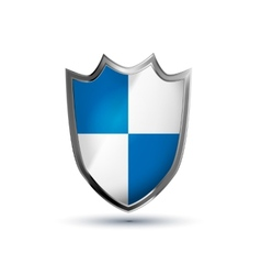 Protection shield glossy icon isolated on vector image